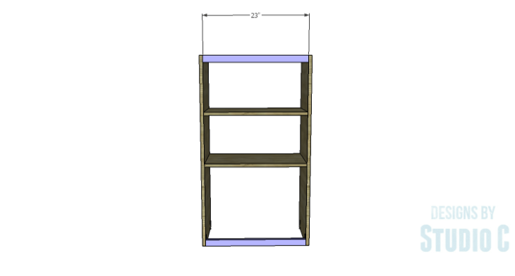 DIY Plans to Build a Tall Cabinet Hutch-Back Stretchers