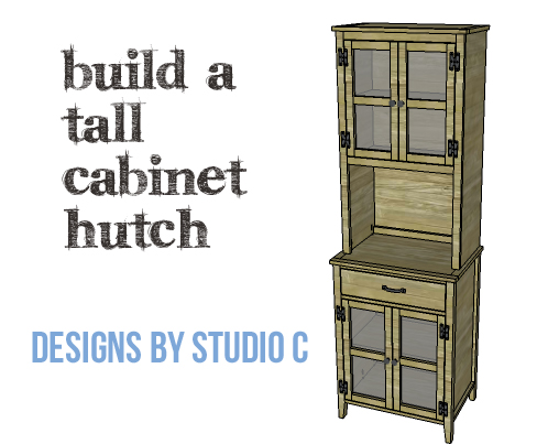 DIY Plans to Build a Tall Cabinet Hutch-Copy