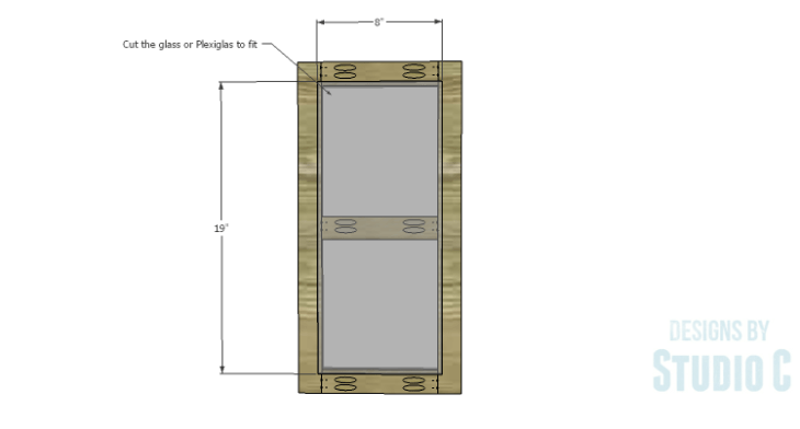 DIY Plans to Build a Tall Cabinet Hutch-Door 2