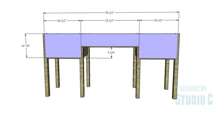 DIY Plans to Build a Brantley Desk-Back