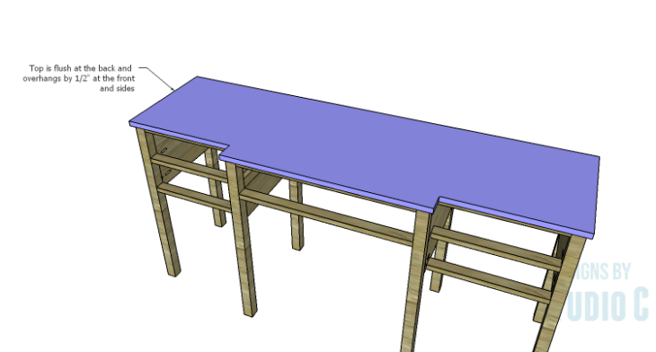DIY Plans to Build a Brantley Desk-Top 2