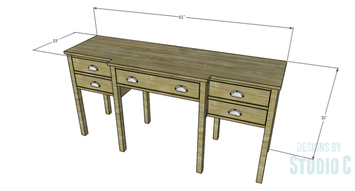 DIY Plans to Build a Brantley Desk