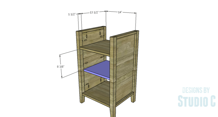 DIY Plans to Build a Cate Chest-Center Shelf