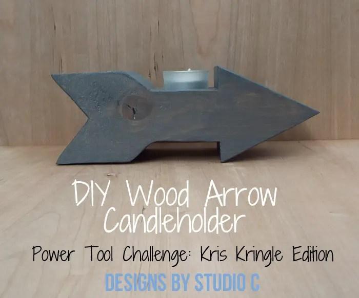 DIY Wood Arrow Candleholder