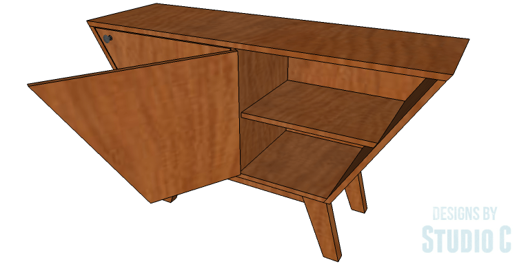 An Easy to Build Mid-Century Style Cabinet – Designs by Studio C
