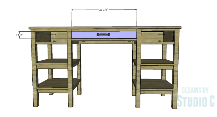 DIY Plans to Build an Open Shelf Desk-Drawer Fronts 1