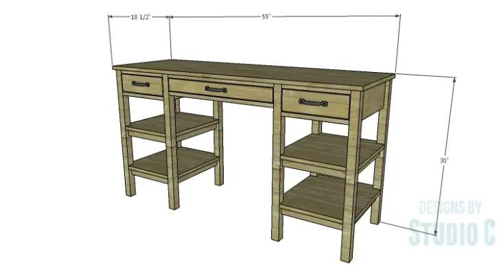 DIY Plans to Build an Open Shelf Desk