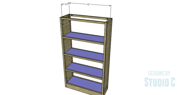 DIY Plans to Build a Woodruff Cabinet-Shelves