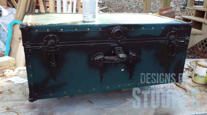 antique metal trunks a chalk paint project with folk art home decor chalks and waxes