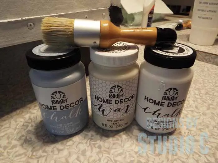 A Chalk Paint Project With Folk Art Home Decor Chalks And