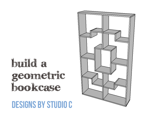 DIY Plans to Build a Geometric Bookshelf-Copy