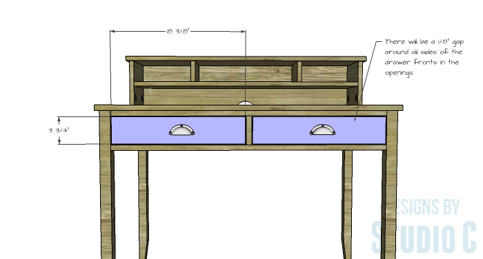 DIY Furniture Plans to Build a Mena Hutch Desk-Drawer Fronts