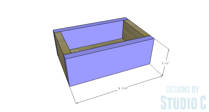 DIY Furniture Plans to Build a Mena Hutch Desk-Upper Drawers 2