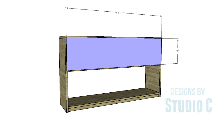 DIY Plans to Build a Storage Console Table-Back