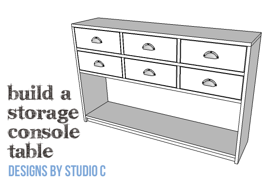 DIY Plans to Build a Storage Console Table-Copy