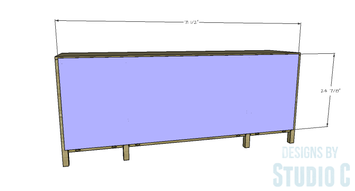 DIY Furniture Plans to Build a Tristan Media Stand-Back