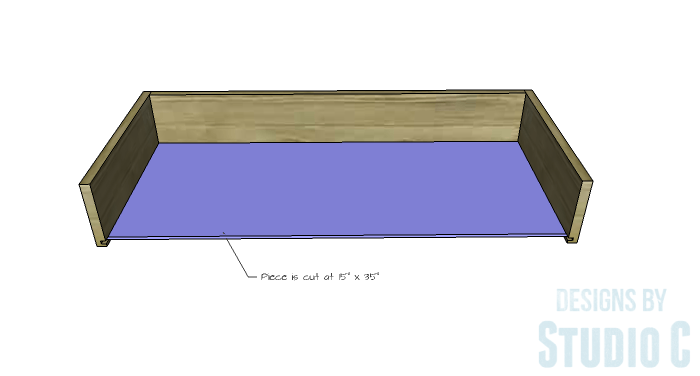 DIY Furniture Plans to Build a Tristan Media Stand-Center Drawer 3