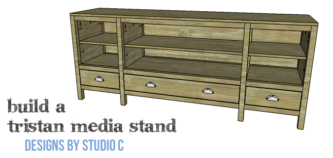 DIY Furniture Plans to Build a Tristan Media Stand-Copy