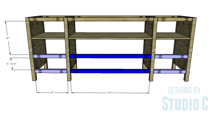 DIY Furniture Plans to Build a Tristan Media Stand-Lower Back Stretchers