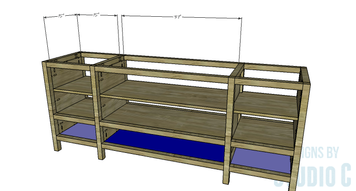 DIY Furniture Plans to Build a Tristan Media Stand-Lower Shelf
