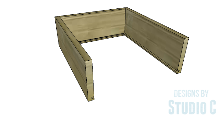 DIY Furniture Plans to Build a Tristan Media Stand-Side Drawer 2