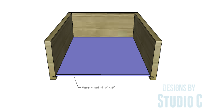 DIY Furniture Plans to Build a Tristan Media Stand-Side Drawer 3