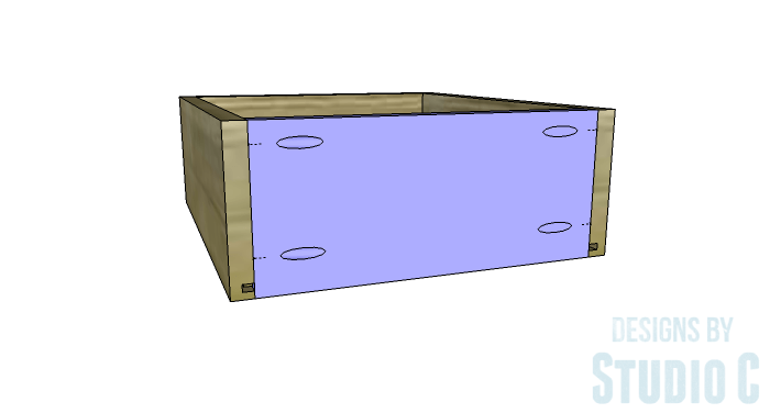 DIY Furniture Plans to Build a Tristan Media Stand-Side Drawer 4