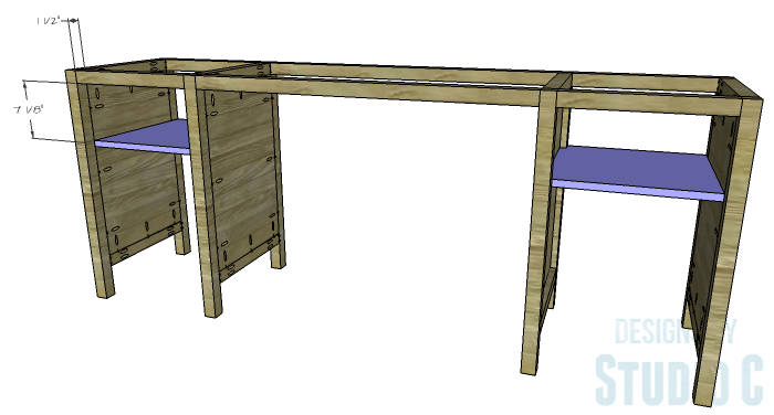 DIY Furniture Plans to Build a Tristan Media Stand-Upper Side Shelf 2
