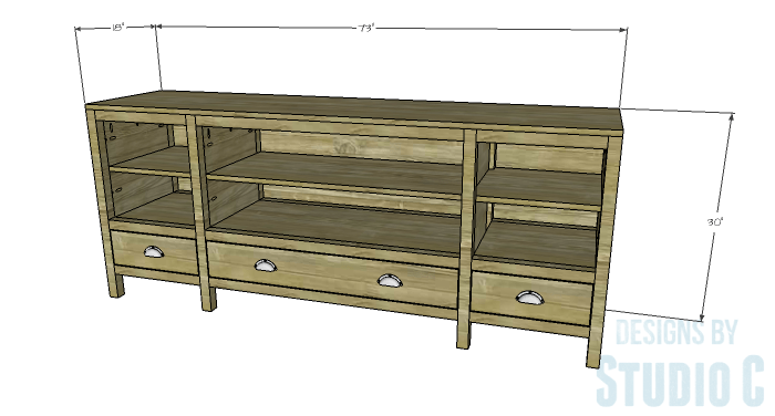 DIY Furniture Plans to Build a Tristan Media Stand
