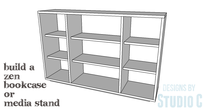 DIY Furniture Plans to Build a Zen Bookcase Media Stand-Copy