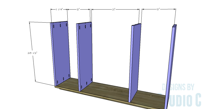 DIY Furniture Plans to Build a Zen Bookcase Media Stand-Dividers