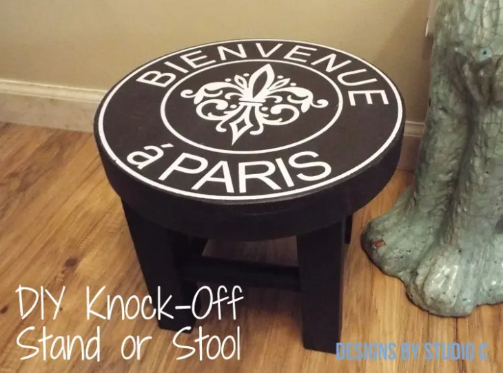 DIY Furniture Plans to Build a Knock-Off Stand or Stool-Completed