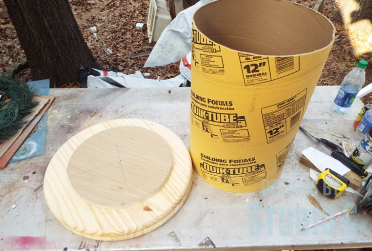 DIY Furniture Plans to Build a Knock-Off Spool Side Table - Supplies for Table