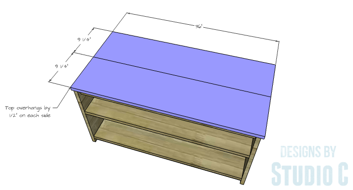 DIY Furniture Plans to Build an Easy Storage Bench-Top