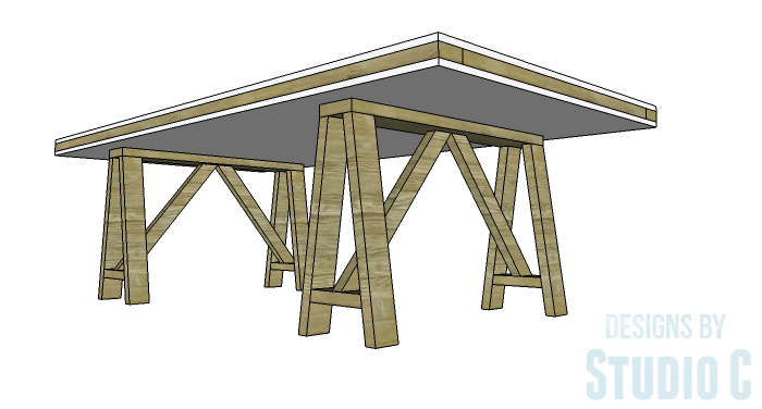 DIY Furniture Plans to Build a Truss-Leg Dining Table-Copy 2