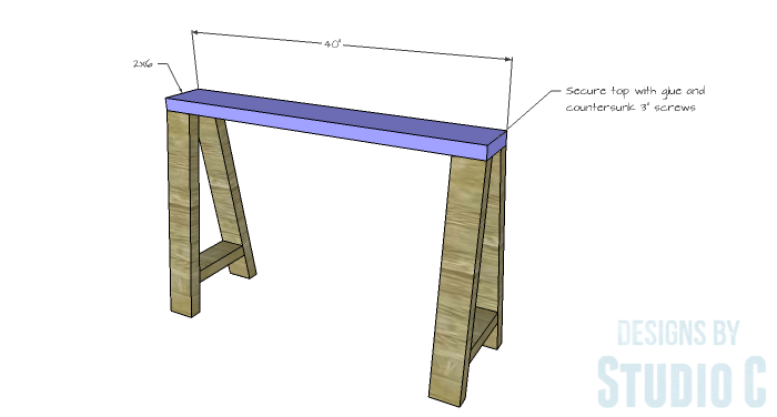 DIY Furniture Plans to Build a Truss-Leg Dining Table-Leg Assembly 3