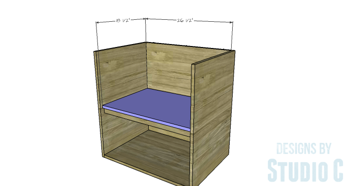 DIY Furniture Plans to Build a Swivel Top Media Cabinet-Shelf