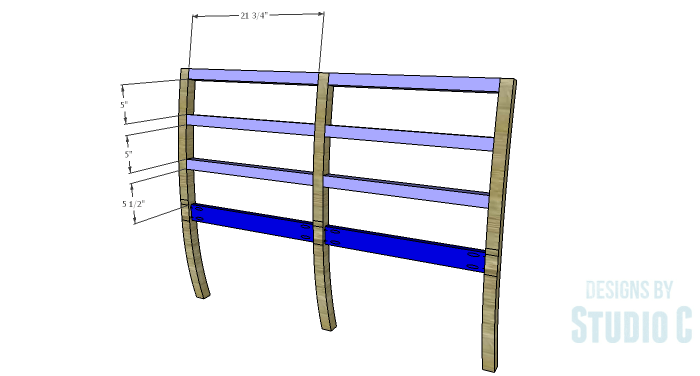 DIY Furniture Plans to Build an Anna Bench - Back