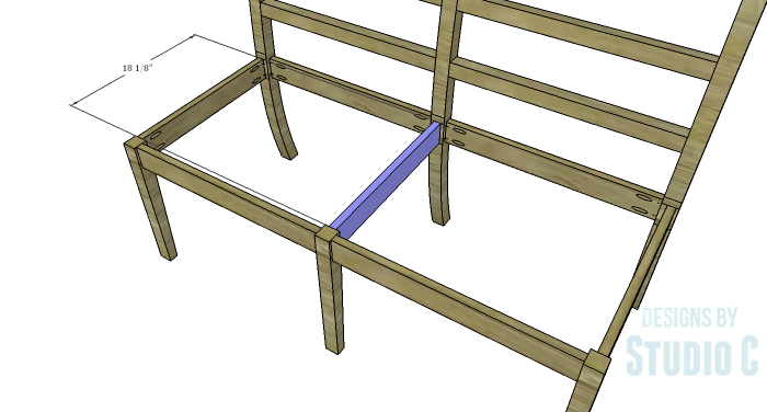 DIY Furniture Plans to Build an Anna Bench - Center Support
