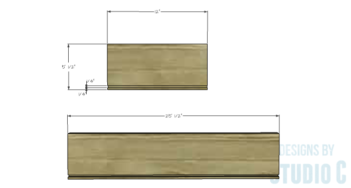 DIY Furniture Plans to Build an Evan Dresser - Large Drawer 1