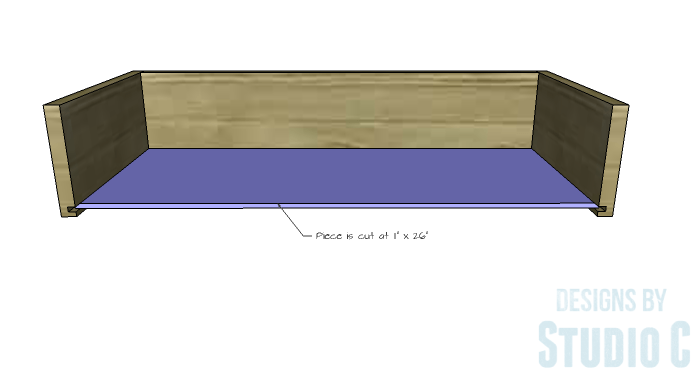 DIY Furniture Plans to Build an Evan Dresser - Large Drawer 3