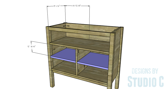 DIY Furniture Plans to Build an Evan Dresser - Lower Drawer Dividers