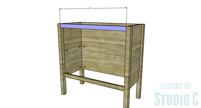 DIY Furniture Plans to Build an Evan Dresser - Upper Stretcher