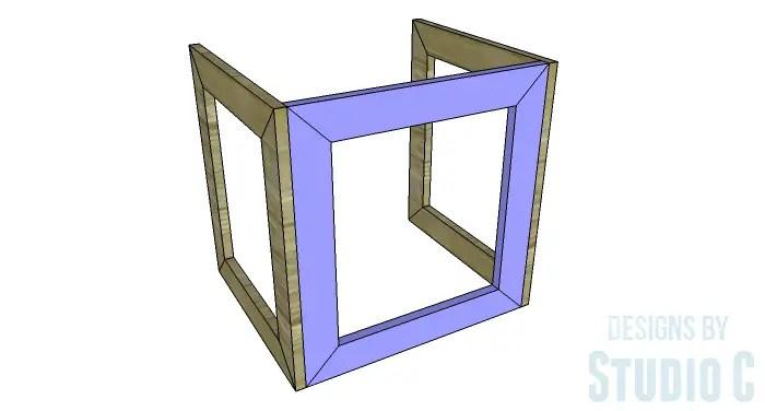 DIY Furniture Plans to Build the Hanover Nesting Tables - Back Frame