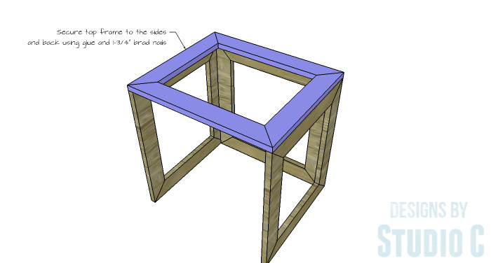 DIY Furniture Plans to Build the Hanover Nesting Tables - Top Frame