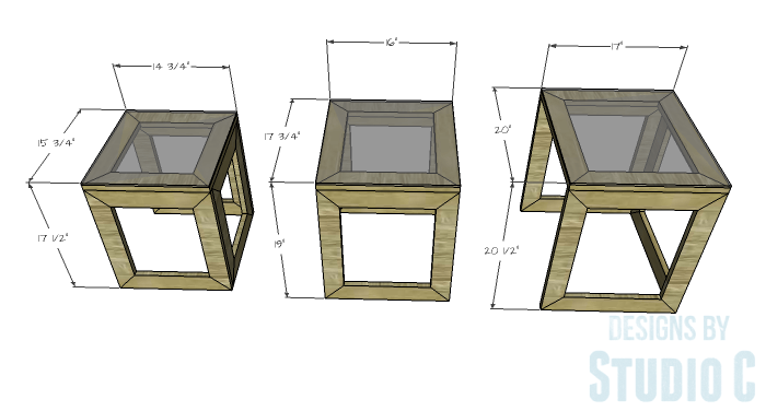 DIY Furniture Plans to Build the Hanover Nesting Tables