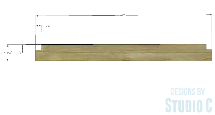 DIY Furniture Plans to Build a Maya Bench - Seat Slats 1