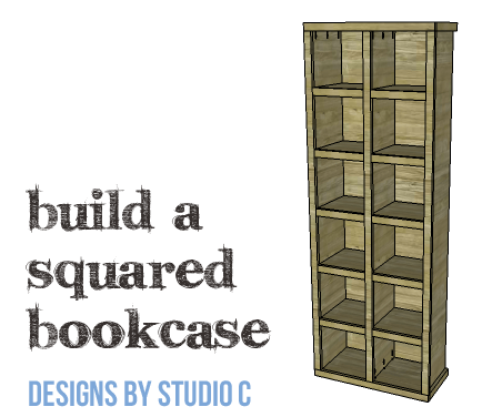 DIY Furniture Plans to Build a Squared Bookcase - Copy