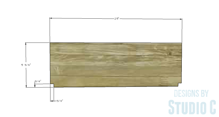 DIY Furniture Plans to Build a Demilune Console Table - Shelves 1