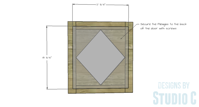 DIY Furniture Plans to Build a Diamond Single Door Cabinet - Door 3